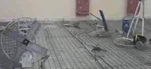На фото пример начала работ на промышленном объекте – возможно, в жилом помещении арматурная сетка будет и излишней