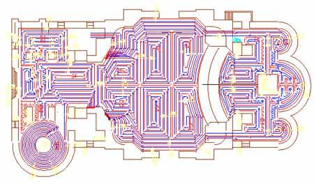На схеме видны отдельные контуры