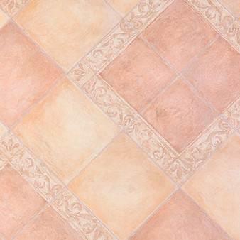 Нежный линолеум розового цвета с геометрическим рисунком