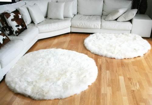 Овечьи коврики для уголка гостиной