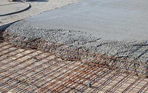Пирог бетонного пола в разрезе