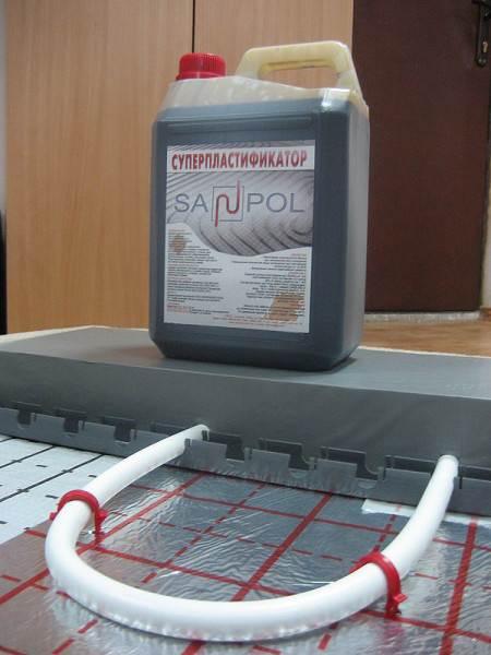 Пластификатор для стяжки на тёплый пол