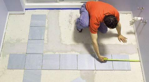 Плитка на пол на гипсокартон