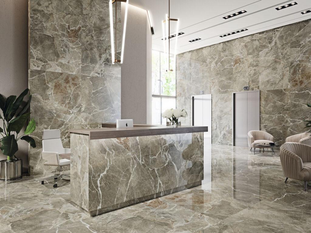 Красивая и стильная керамическая плитка большого формата