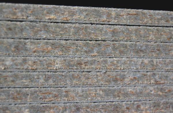 Плиты цементно-стружечного образования в разрезе