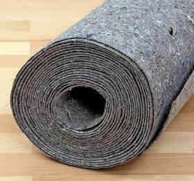 Подложка, сделанная из льна, шерсти и джута.