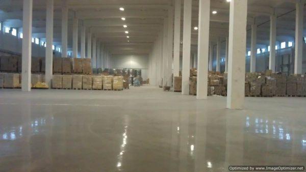 Применение наливных полов в складских помещениях