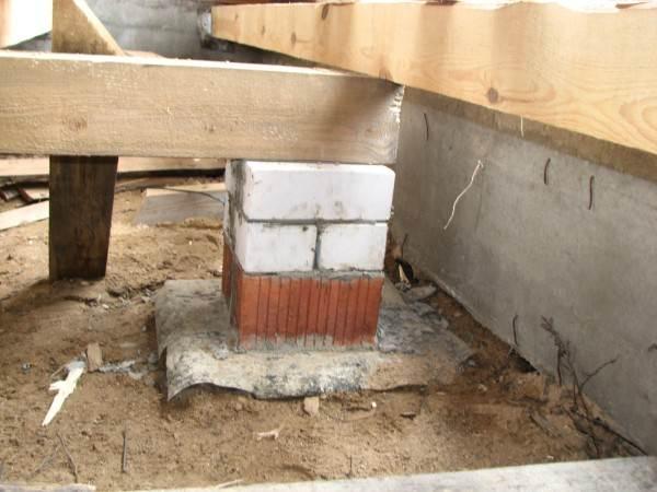Пример готовых столбиков