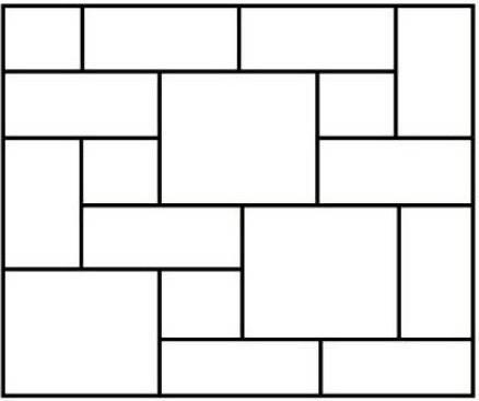 Пример модульной кладки.