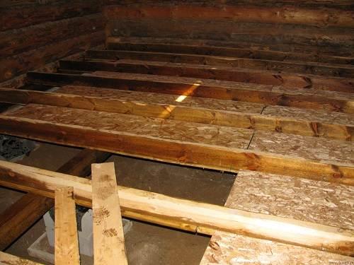Пример расположения деревянных перекладин.