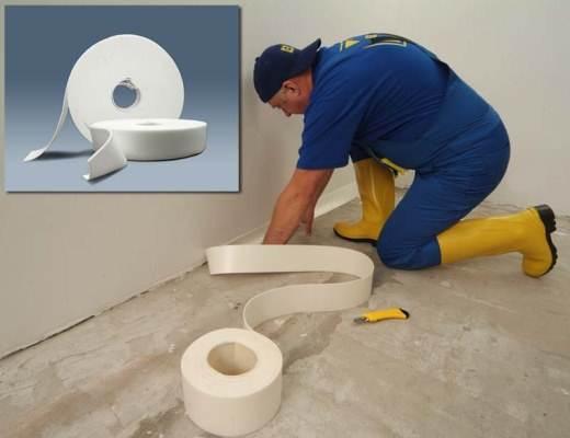 Принцип установки демпферных прокладок для защиты стен