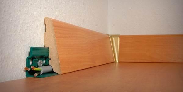 Пристенная панель позволяет маскировать кабеля проводки.