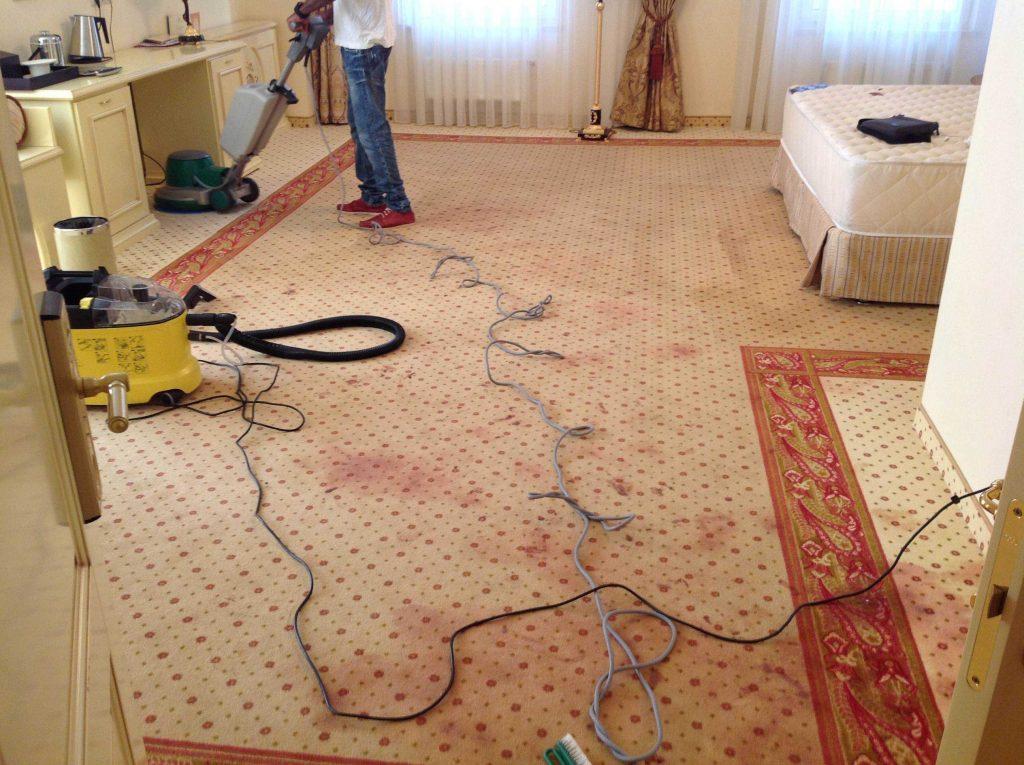 Загрязнение ковров