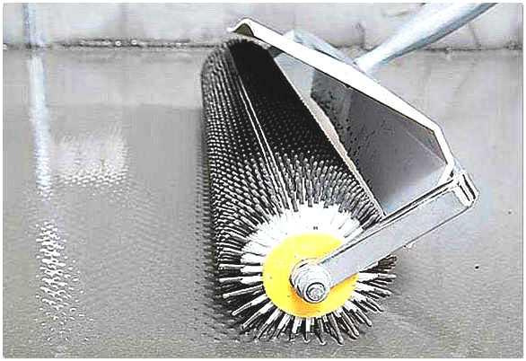 Прокатка поверхности игольчатым валиком.