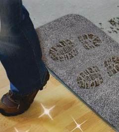Простой коврик может решить проблему с чистотой покрытия