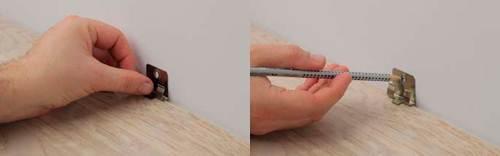 Процесс разметки поверхности для установки клипс.
