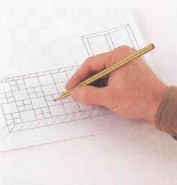 Процесс создания чертежа.