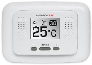 Радиотермостат с возможностью программирования позволяет автоматически регулировать температуру контура теплого пола.