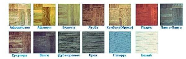 Разнообразные цвета водного лака