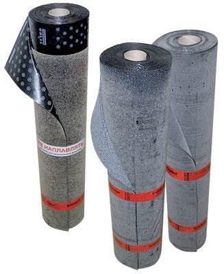 Рулонные гидроизоляторы на основе битума.
