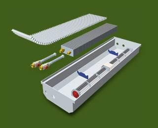 Схема корпусного конвектора