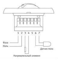 Схема подключения термостата.