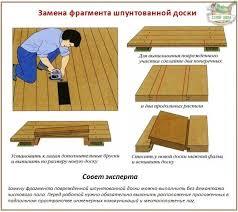 заделка трещин в деревянном полу
