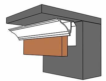 Схематическое изображение установки стеновых панелей с плинтусом