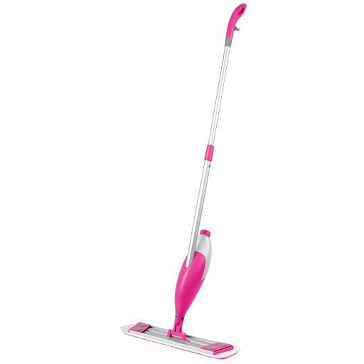 Швабра для мытья пола с платформой может снабжаться и дополнительным пылесосом, как на фото