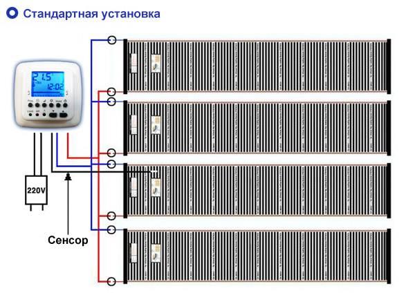 Система с внутренней установкой датчика.