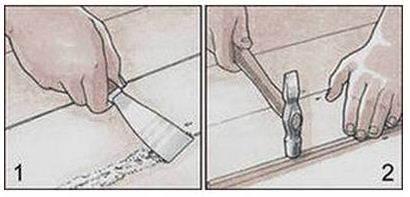 Способы заделки щелей в полу