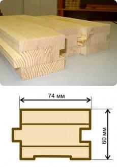 Стандартные типоразмеры клееного палубного бруса – толщина 60 мм, ширина 74 мм, длина 6000 мм.