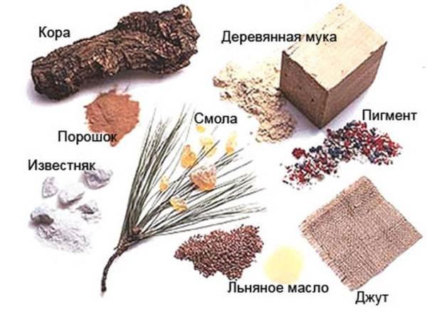 Сырье для производства мармолеума.