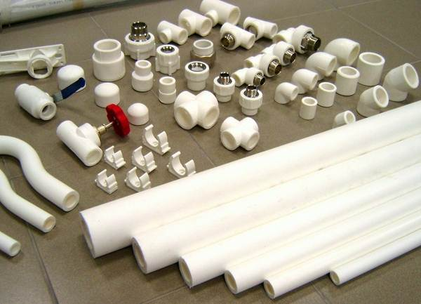 Трубы из полипропилена с фасонными элементами