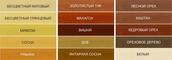 Цветовая палитра покрытий для пола