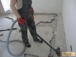 Уборка помещения после расшивки трещин
