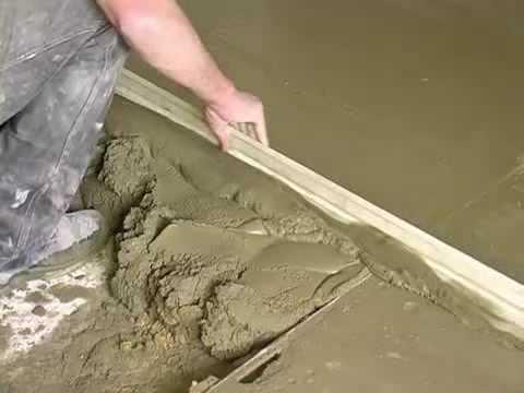 Укладка бетонного основания