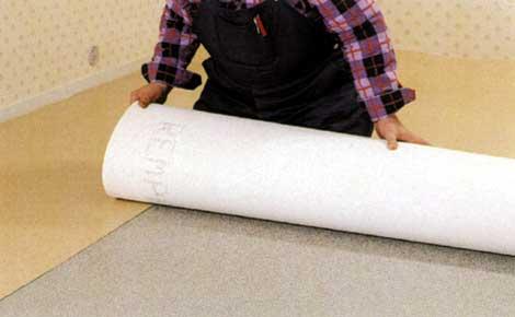 Укладка материала, как и все расчеты должна производиться с небольшим нахлестом
