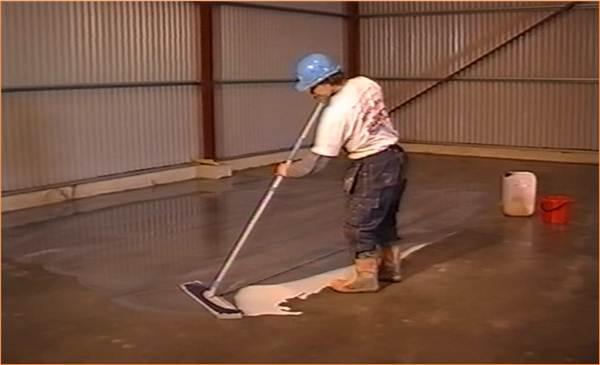 Упрочнение бетонной поверхности