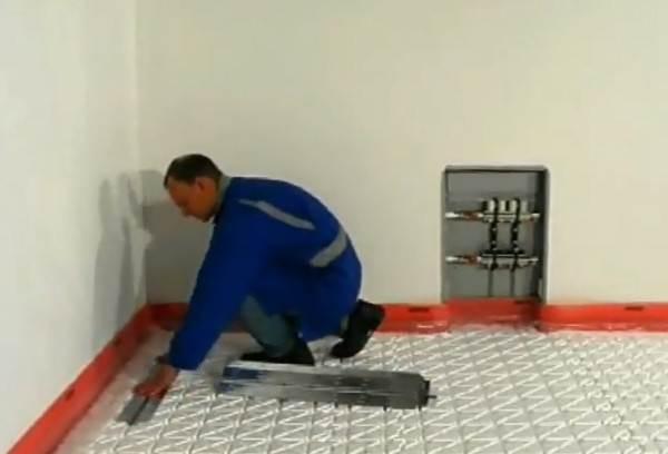 Установка алюминиевых пластин