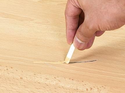Устранение царапины на покрытии