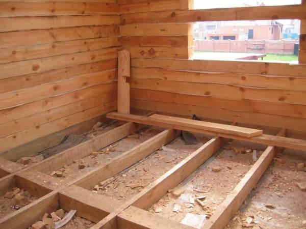 Устройство чернового пола в деревянном доме на лагах