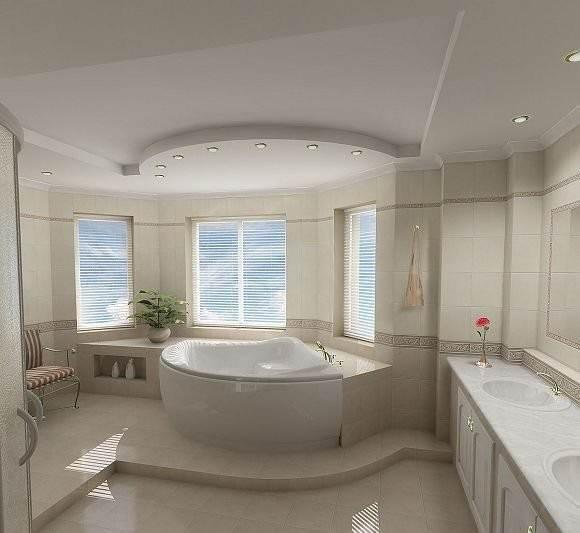 бходимо заметить, что впритык к стене ванну размещают только на постсоветском пространстве (что связано с дефицитом места в санузлах). В Европе или Америке ванна обычно располагается на невысоком возвышении (подиуме) посередине помещения ванной комнаты.  Плинтус на ванну на плитку в отечественных небольших санузлах крепится не только как декоративный элемент, но и как защитный (оберегает от попадания воды).  [caption id=