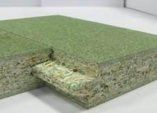 Влагостойкая плита имеет защитное покрытие.
