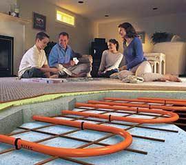 Водяной тёплый пол в бетонной стяжке и с чистовым покрытием