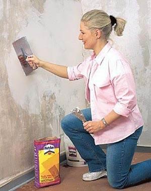Выравниваем стену.