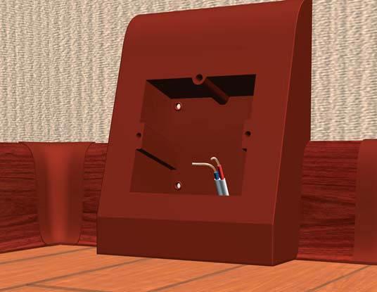 Вывод проводов в подрозетник