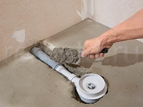 Заделываем пустоты цементным раствором.